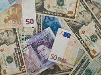 Schuldenarten verschiedene Geldscheine