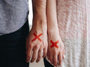 Paar Trennung Hände Scheidung Immobilie