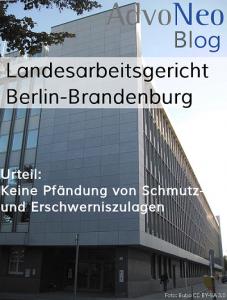 Zuschläge pfändbar? Nicht laut Urteil Landesarbeitsgericht Berlin-Brandenburg