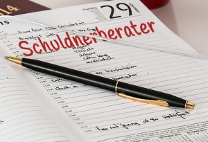 Schulden haben normal Kalender Termin Schuldnerberater