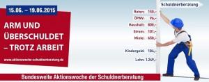 Plakat Aktionswoche Schuldnerberatung 2015