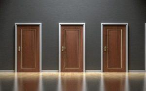 Auswahl Türen Entscheidung
