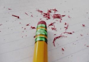Radierer Stift SCHUFA-Eintrag löschen lassen