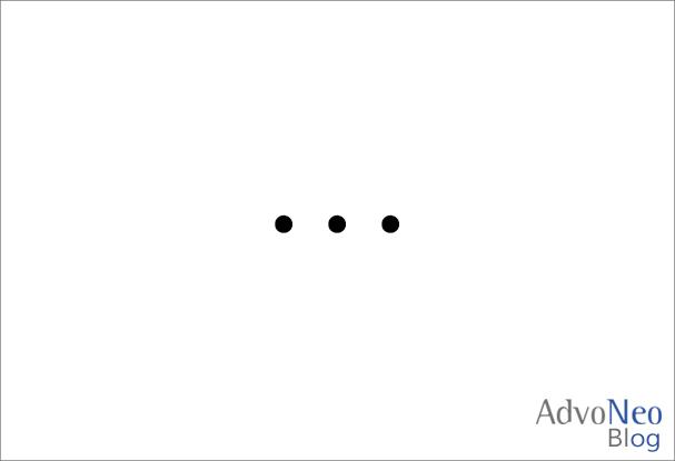 Kuriose Argumente Vergleich mit Finanzamt - Drei Punkte weißer Hintergrund