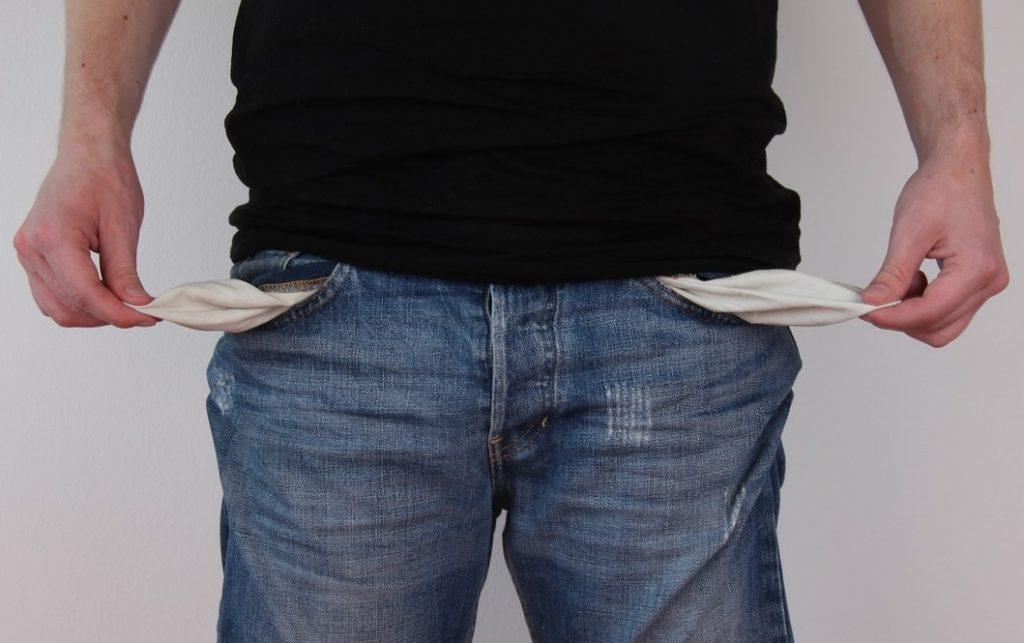 konto schulden leere taschen kein geld