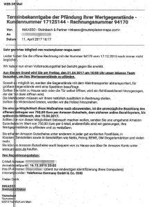 Inkasso Betrug E-Mail Steinbach