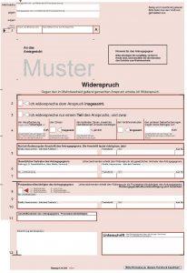 Muster Widerspruch Mahngerichte.de
