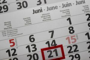 Frist Kalender Datum Faelligkeit