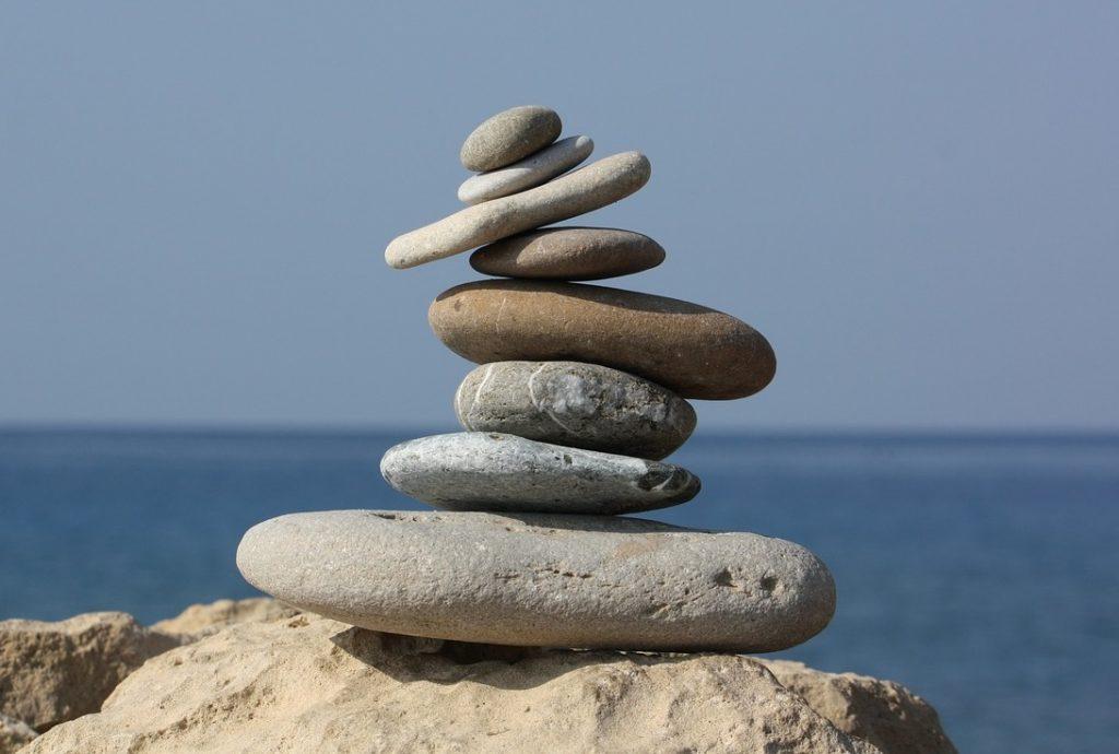 Gleichgewicht Balance Steine Finanzen