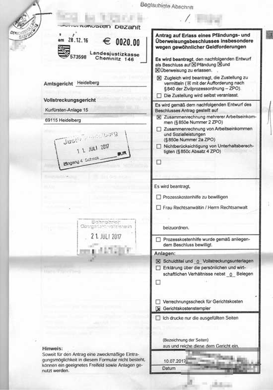 Pfub Pfandungs Und Uberweisungsbeschluss Advoneo Ratgeber