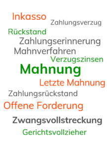 Wordle Thema Mahnung